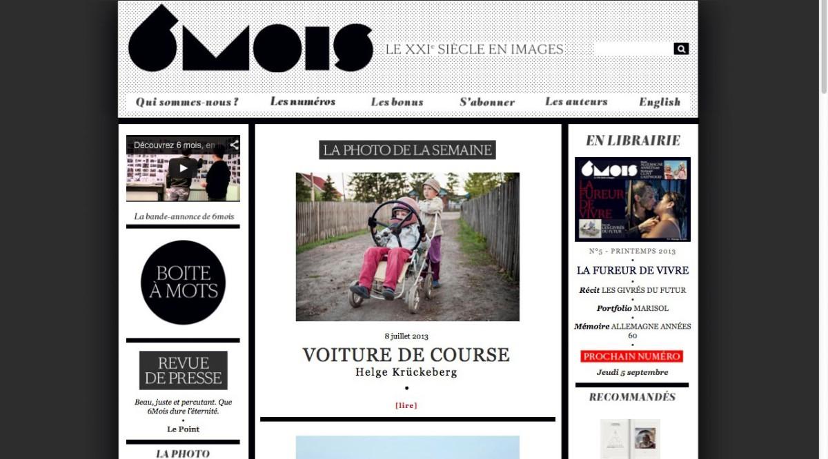 Screenshot 6mois.fr Anfang Juli 2013